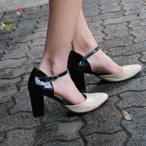 • wills vegan shoes • blue suede block heels